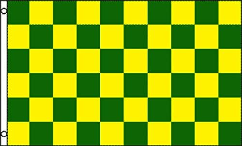 5x3 Feet Size 3x2 CHEQUERED GREEN YELLOW CHECKERED RACING AND SPORTS FLAGS