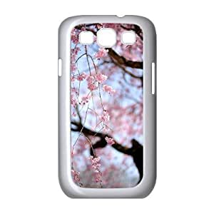 Customized Cover Case with Hard Shell Protection for Samsung Galaxy S3 I9300 case with Beautiful cherry blossoms lxa#473603