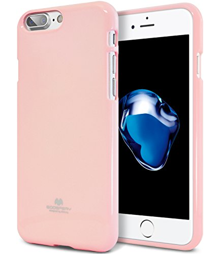 iPhone 8 Plus Case & iPhone 7 Plus Case, [Slim Fit] GOOSPERY [Flexible] Pearl Jelly TPU Case [Lightweight] Bumper Cover [Anti-Yellowing] for iPhone 8 Plus & 7 Plus (Pink) ()