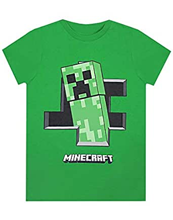 Official Minecraft Creeper Inside Boys Green T-Shirt (5-6 Years)