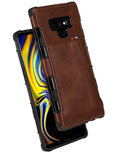 Galaxy Note 9 Wallet Case, GOOSPERY Protective PU Leather Bumper Cover with Card Holder for Samsung Galaxy Note 9 (Brown) NT9-LEA-BRN