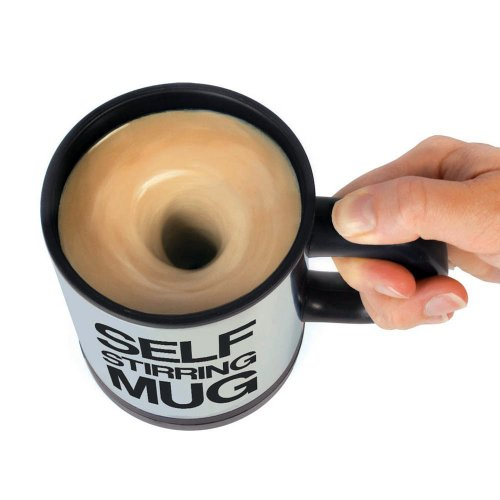 Towallmark Self Stirring Mug Office Coffee Tea Cup Mix Mixing Stir Gag Gift (Creamer Aztec)