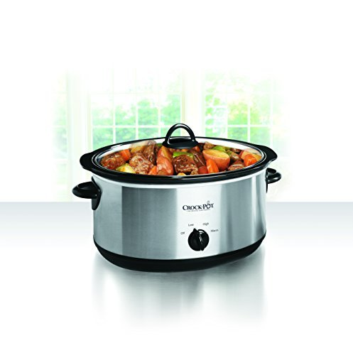 Crockpot SCV803-SS 8-Qt Stainless Steel Slow Cooker w Lit...