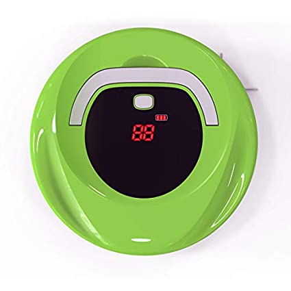 MIAO@LONG Robot Aspirador, Poderosa Succión Funcionamiento Simple Prevención De Colisión Sensor Infrarojo para