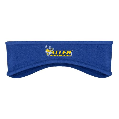 Allen University Royal Stretch Fleece Headband 'Official Logo' by CollegeFanGear
