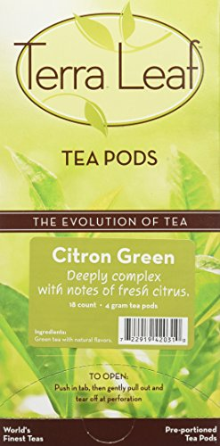 (Terra Leaf Citron Green Tea Pods, 54 Count)