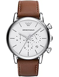 Mens AR1846 Dress Brown Leather Watch. Emporio Armani