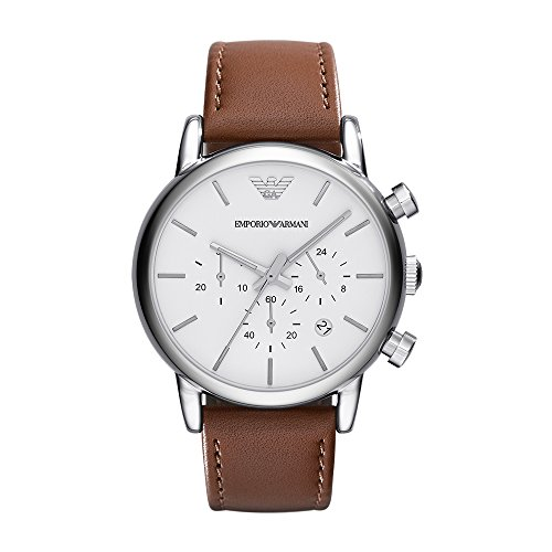 Emporio Armani Men's AR1846 Dress Brown Leather Watch ()