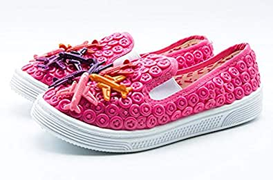Button Shoes Pink Fashion Sneakers For Girls