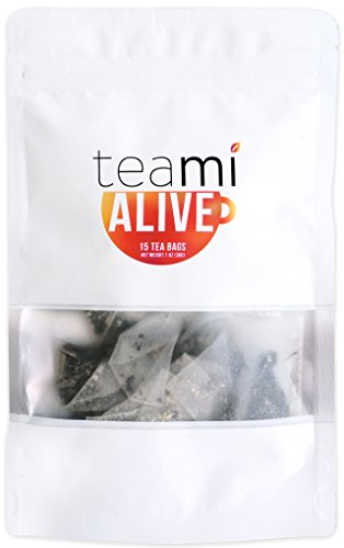 ENERGY GREEN TEA with Caffeine & Ginger Honey - Loose Leaf ALIVE Blend by Teami Blends - Best for Increased Stamina and Boosting Mental Alertness - with 100% All-Natural Lemongrass.