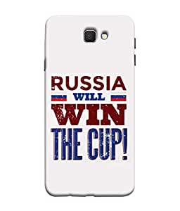 ColorKing Football Russia 04 White shell case cover for Samsung Galaxy J7 Prime