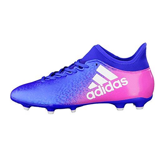 adidas X 16.3 Fg, Botas de Fútbol para Hombre Blue-White-Shock pink