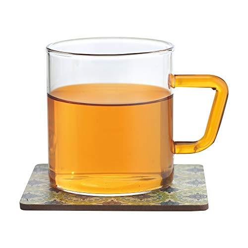 Borosil Vision Tea N Coffee Glass Mug Set of 6 – Microwave Safe, Yellow Handle, 190 ml Price & Reviews