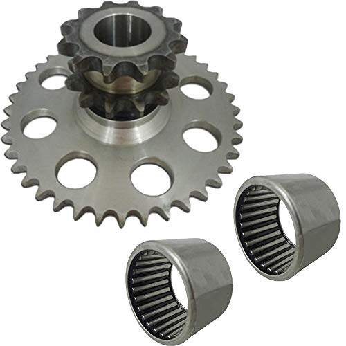 One (1) D76529 Chain Drive Sprocket for Case-IH 1845C Skid Steer Loader 2 D64175 Bearing from RAPartsinc