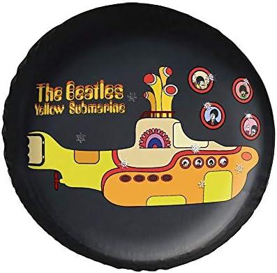 イエローサブマリン ザ The Beatles Yellow Submapine タイヤカバー タイヤ保管カバー 収納 防水 雨よけカバー 普通車・ミニバン用 防塵 保管 保存 日焼け止め 径83cm