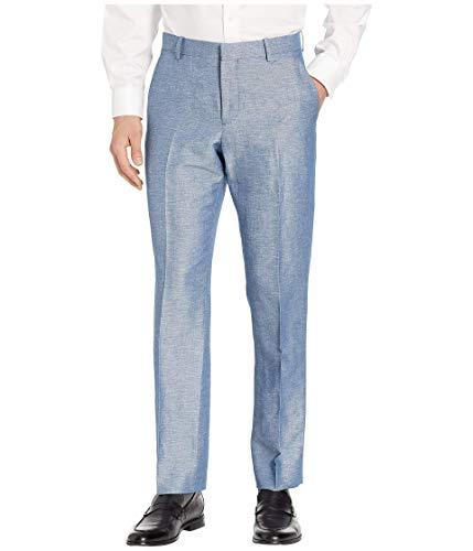 (Perry Ellis Men's Portfolio Modern Fit Linen Blend Pants, Blueprint, 33x32)