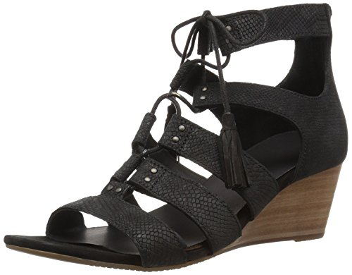 Ugg Kvinders Yasmin Slange Gladiator Sandal Sort 4DexmO