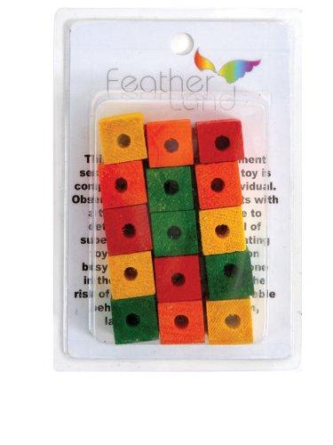 3 4 In Octagon Bird Toys : Paradise inch by wood blocks bird toy toys