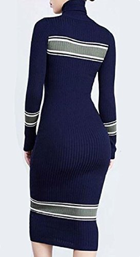 Women Picture Long Dress Coolred Sleeve Autumn Winter Midi Bodycon As Sexy Turtleneck g1PdqFw