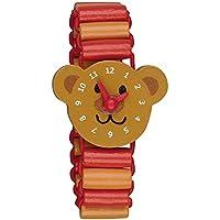 Spiegelburg Meine erste Armbanduhr aus Holz mit beweglichen Zeigern Die Lieben Sieben (Bär Bruno)
