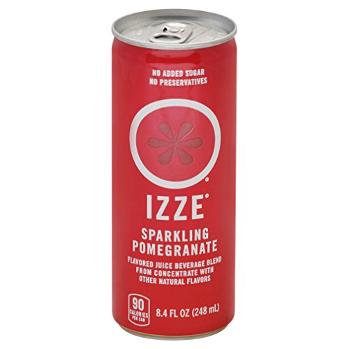 Izze Sparkling Juice, Pomegranate, 8.4 Fluid Ounce,Pack of 12