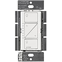 ... Lutron Deep Back Cover Caseta Pro 1000W Dimmer White (PD-10NXD-WH)