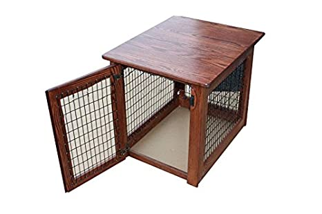 Amazon.com: Muebles de madera para perro Crate mesa auxiliar ...
