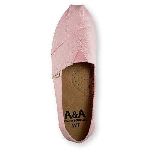 A & Een Klassieke Instapper Alpargatas, Vrijetijdsschoenen Voor Dames En Heren (unisex) Roze