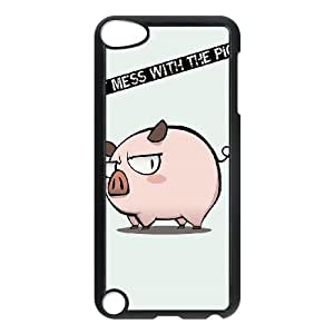 Funny Mess Pig iPod Touch 5 Case Black&Phone Accessory STC_179509
