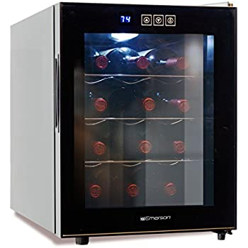 Emerson ER102001 Wine Cooler Black, 12 Bottle
