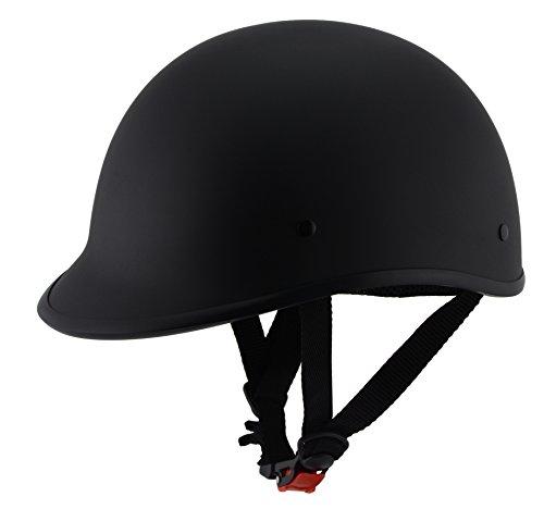 Milwaukee Performance Helmets Unisex-Adult Half Derby Helmet (Matte Black, Medium)
