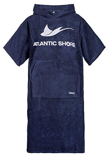 Atlantic Shore | Surf Poncho ☆ Bademantel/Umziehhilfe aus hochwertiger Baumwolle ➤ Navy Blue/Dunkelblau
