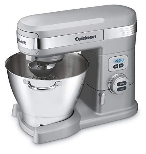 Cuisinart SM-55BC 5-1/2-Quart 12-Speed Stand Mixer, Brushed Chrome (Renewed) (Cuisinart Sm55bc)