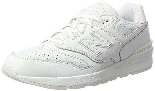 Nouveaux Hommes Balance 597 Chaussures De Course, Blanc (blanc Blanc)
