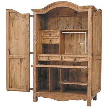 Amazon.com: Rustic Western Computer Armoire: Kitchen & Dining