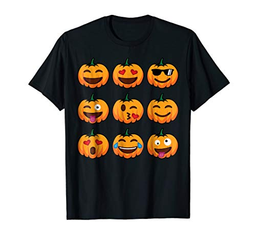 Pumpkin Emoji Halloween Costume T-Shirt Funny Toddler Outfit -