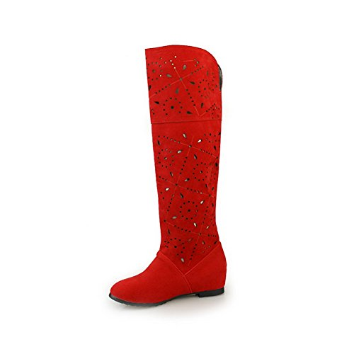 BalaMasa Girls Heighten Inside Wellington Boots Imitated Leather Boots Red l9WszA