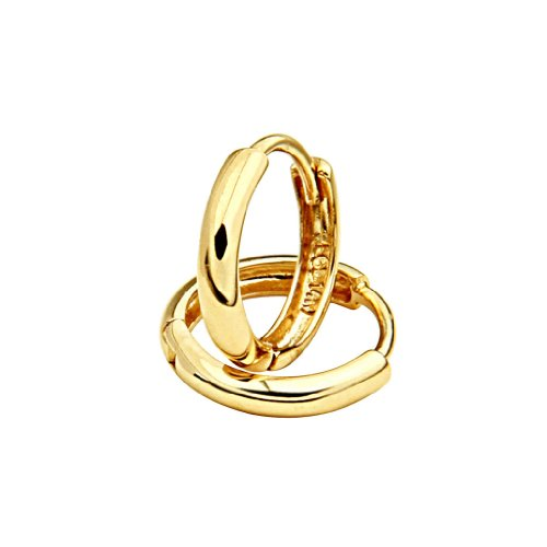 Yellow Gold Thickness Huggie Earrings product image