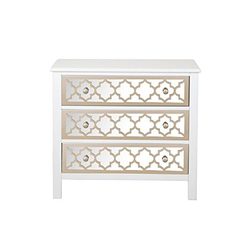 Pulaski DS-A259-850 Accent Drawer Chest with Mirrored Drawer Fronts, 34.0″ x 15.0″ x ...