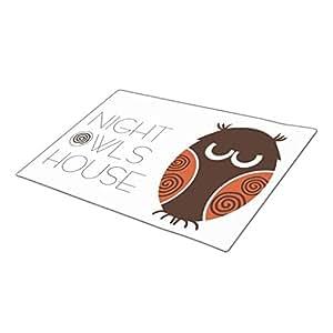 GB Plan Monogrammed Door Mat Night Owls House Funny Doormats
