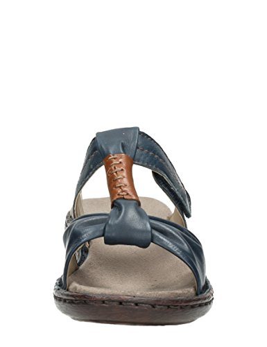 Jenny - Sandalias de vestir de Piel para mujer Azul * target_attribute_value 06 BURSHNA, NAVY MARRONE