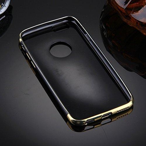 Phone Taschen & Schalen Für iPhone 6 Plus & 6s Plus Spiegel TPU Schutzhülle ( Color : Gold )