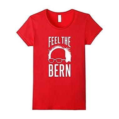 Women's Feel the Bern - Bernie Sanders T-Shirt Large Red