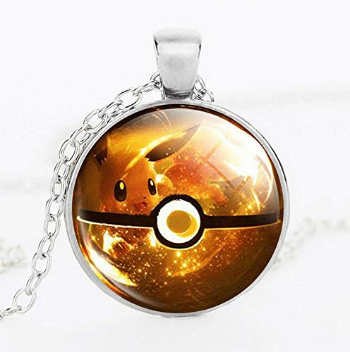 Hebel Funny Pokemon Photo Eevee Ball Cabochon Glass Dome Pendant Chain Necklace Gift | Model NCKLCS - 33060 |