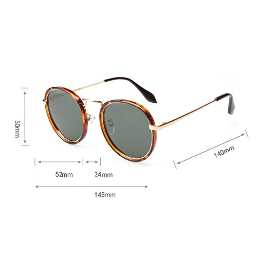 Rose métal hommes en lunettes Uv400 polarisé Mme plein protection soleil Élégant et en cadre air de rond 40qtat