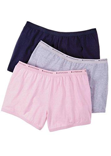 Comfort Choice Women's Plus Size 3-Pack Boyshort Basic Pack,9