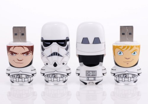 Mimobot 8GB Stormtrooper Unmasked USB Flashdrive (Set of 2: (1) Han Solo and (1) Luke ()