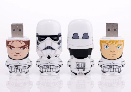 Mimobot 8GB Stormtrooper Unmasked USB Flashdrive (Set of 2: (1) Han Solo and (1) Luke Skywalker) ()