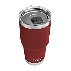 YETI Rambler 30 oz Stainless Steel Vacuum Insulated Tumbler, Brick Red The new Brick Red colorway won't scratch, fade, or peel and is warranted to last through the life of your Rambler. And because it's a Rambler, you're getting drinkware tha...