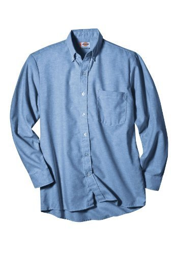 (Dickies Occupational Workwear SS36LB 165LN Polyester/ Cotton Men's Button-Down Long Sleeve Oxford Shirt, 16-1/ 2